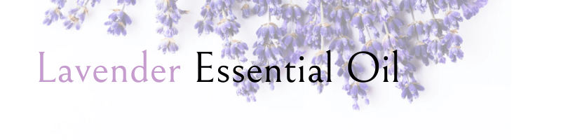 lavander essential oils text