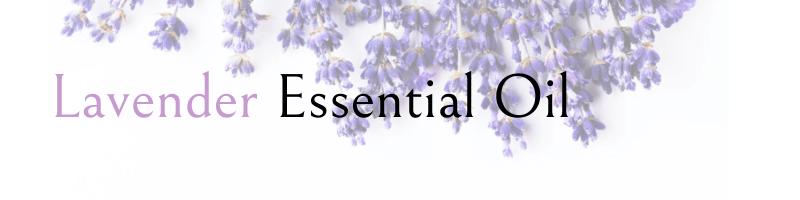 lavander essential oils text