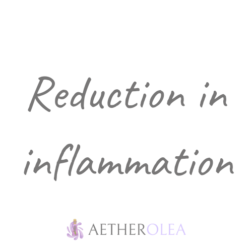 Reduction in inflammation